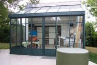 Bezier fabricant de fen tres et de menuiseries aciers avec les profil s fine - Veranda style atelier d artiste ...